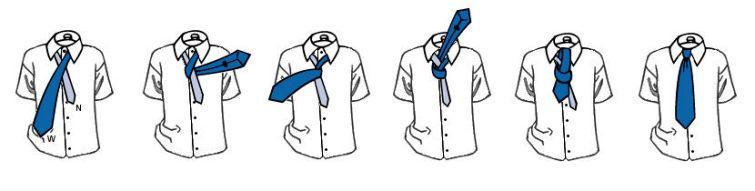 Как завязать галстук самый простой способ схема