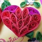 Валентинка из цветного картона