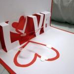 Валентинка на бумаге