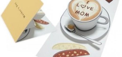 Объемная открытка кофе