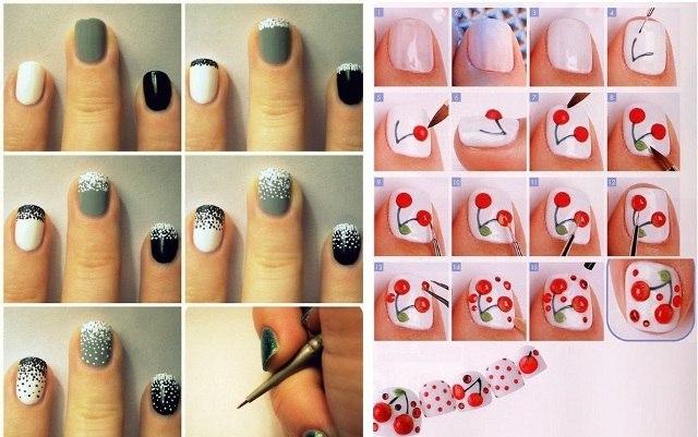 Как сделать красивые рисунки на ногтях 163