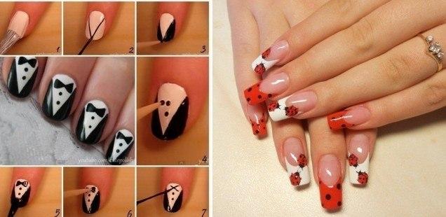 Накрасить ногти домашних условиях фото